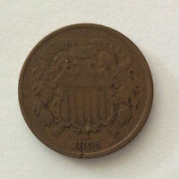 1866 TWO CENTS U. S. COIN A4519