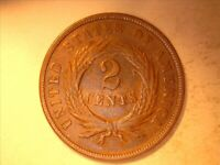 1867 TWO CENT PIECE VF CONDITION <> NO ISSUES