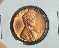 1935 LINCOLN BU WHEAT CENT PENNY RED UNCIRCULATED COIN
