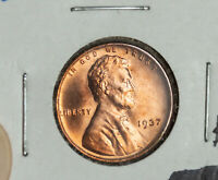1937 LINCOLN BU WHEAT CENT PENNY RED UNCIRCULATED COIN