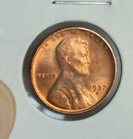 1937-D LINCOLN WHEAT CENT PENNY RED UNCIRCULATED COIN