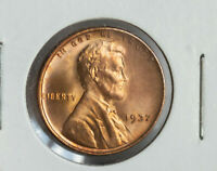 1937 LINCOLN TONED WHEAT CENT PENNY UNCIRCULATED COIN