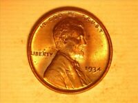 1934 LINCOLN WHEAT CENT  <> BU RED <> 107