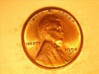 1954-S LINCOLN WHEAT CENT  <>  BU RED <> 107