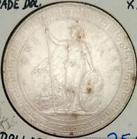 1897 GREAT BRITAIN TRADE DOLLAR XF AU SOLID SILVER COIN HONG KONG