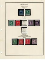 1917 19 MINT COLLECTION INCLUDING 479 480 WITH PSE CERT 481