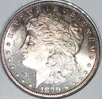 1879-S MORGAN SILVER DOLLAR UNCIRCULATED CHOICE NEARLY PROOF LIKE