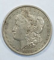 1878 8-TAIL FEATHER MORGAN $  EXTRA FINE SILVER DOLLAR