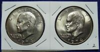 1974 P & D EISHENHOWER DOLLAR SET   BU      2 COINS