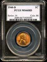 1940-D 1C LINCOLN WHEAT CENT MINT STATE 66RD PCGS 71929293