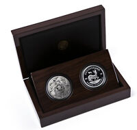 2 X 1 OUNCE SILVER PROOF KRUGERRAND PRIVY LION   LION BIG FI