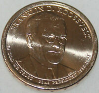 2014-P PRESIDENTIAL DOLLAR UNCIRC FRANKLIN ROOSEVELT GOLDEN  NO PROBLEM COIN