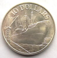 SINGAPORE 1976 INDEPENDENCE 10 DOLLARS SILVER COIN,UNC