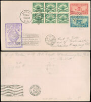 9/22/30 FAM 9 50 CANAL ZONE   MONTEVIDEO URUGUAY W CACHET AIR MAIL C4 BLOCK/6