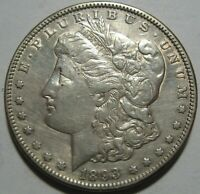 1893 AU MORGAN DOLLAR,  DETAILS, CLEANED, SHIPS FREE