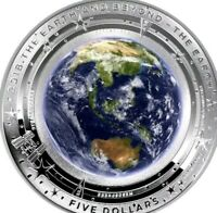 2018 AUSTRALIA 1 OZ SILVER COIN $5 DOMED EARTH AND BEYOND:THE EARTH PROOF