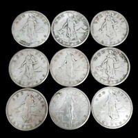 LOT OF  9  1907 08 09 PHILIPPINES ONE 1 PESO SILVER US ADMIN