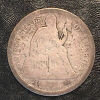1875-CC ABOVE SEATED LIBERTY DIME - HIGH QUALITY SCANS F520