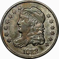 1832 H10C CAPPED BUST HALF DIME EXTRA FINE -AU TONED  OLD TYPE COIN MONEY J