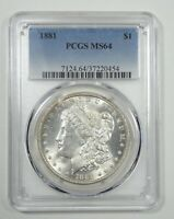 1881 MORGAN DOLLAR CERTIFIED PCGS MINT STATE 64 SILVER DOLLAR