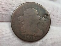 1806 SMALL DATE NO STEMS VARIETY DRAPED BUST HALF PENNY.  31