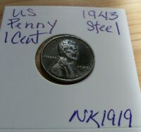 1943 LINCOLN STEEL WHEAT CENT PENNY- ESTATE FIND NK1919