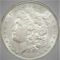 1884 S MORGAN DOLLAR YIKES. I CAN'T BELIEVE IT AMAZING  BRIILIANT UNC