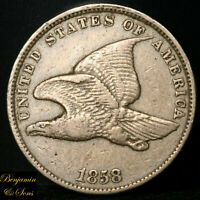 1858 FLYING EAGLE CENT 1C, SMALL LETTERS, SHIPS FREE 111819-01