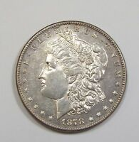 1878-S MORGAN DOLLAR ALMOST UNCIRCULATED SILVER DOLLAR, FIRST YEAR OF ISSUE