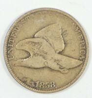 1858 FLYING EAGLE CENT WITH LARGE LETTERS  GOOD SMALL 1C