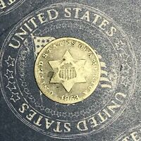 1853 THREE CENT SILVER. COLLECTOR COIN FOR COLLECTION OR SET. SHIPS FREE