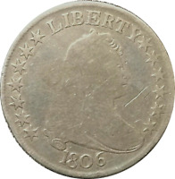 1806 DRAPED BUST HALF DOLLAR 50C POINTED 6 DETAILS CLEANED  FILLER