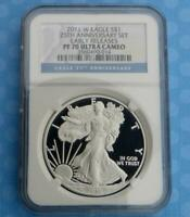 2011 W NGC PF 70 U-CAM EARLY RELEASE SILVER EAGLE DOLLAR, PROOF 70 ULTRA CAMEO