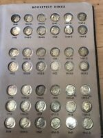 ROOSEVELT DIMES COMPLETE SET 1946 1998 164 COINS IN DANSCO A
