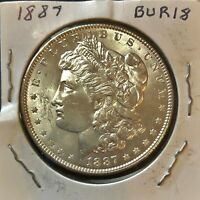 1887 MORGAN SILVER DOLLAR  BU FROM OLD BANK ROLL