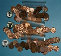 1955 P D S LINCOLN WHEAT CENT ROLLS AU/BU   PARTIAL ROLLS FROM BIG COLLECTION