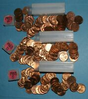 1953 P D S LINCOLN WHEAT CENT ROLLS AU/BU   PARTIAL ROLLS FROM BIG COLLECTION