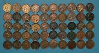 50 INDIAN HEAD CENT ROLL LOT   NICE DETAILS W/ SIGNS OF CLEANING OR BLEMS