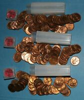 1952 P D S LINCOLN WHEAT CENT ROLLS AU/BU   PARTIAL ROLLS FROM BIG COLLECTION