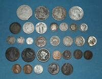 US COIN TYPE SET COLLECTION 1808 HALF CENT  1858 O HALF DIME 2 AND 3 CENTS ETC