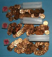 1951 P D S LINCOLN WHEAT CENT ROLLS AU/BU   PARTIAL ROLLS FROM BIG COLLECTION
