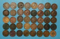 1909 INDIAN HEAD CENT 40 COIN ROLL   CULL LOT