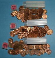 1950 P D S LINCOLN WHEAT CENT ROLLS AU/BU   PARTIAL ROLLS FROM BIG COLLECTION