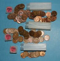 1949 P D S LINCOLN WHEAT CENT ROLLS AU/BU   PARTIAL ROLLS FROM BIG COLLECTION