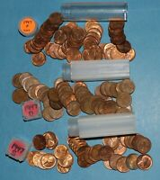 1947 P D S LINCOLN WHEAT CENT ROLLS AU/BU   PARTIAL ROLLS FROM BIG COLLECTION