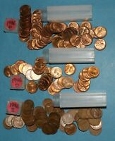 1946 P D S LINCOLN WHEAT CENT ROLLS EF BU   PARTIAL ROLLS FROM BIG COLLECTION