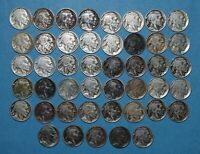 45 BUFFALO NICKELS ROLL FROM THE TEENS   1913 1919 W/ FIVE D OR S
