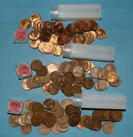 1945 P D S LINCOLN WHEAT CENT ROLLS EF BU   PARTIAL ROLLS FROM BIG COLLECTION