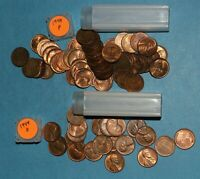 1944 P D LINCOLN WHEAT CENT ROLLS AU/BU   PARTIAL ROLLS FROM BIG COLLECTION