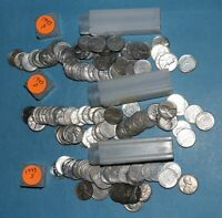 1943 P D S LINCOLN WHEAT CENT ROLLS   ALTERED   PARTIAL ROLLS FROM COLLECTION